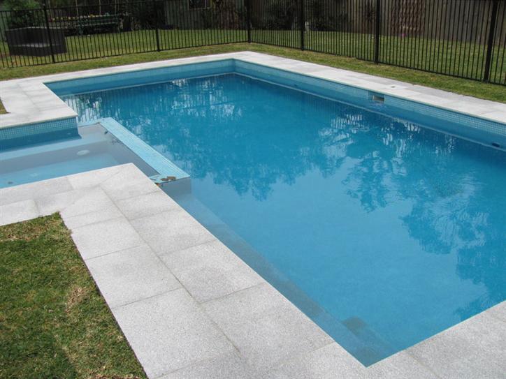 Granite pavers around pool roselawnlutheran for Pool surround ideas